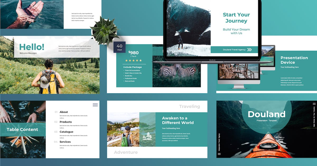 Download Douland - Travel Powerpoint Presentation by TMint
