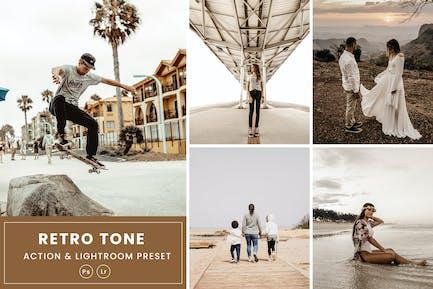 Retro Tone Action & Lightrom Presets