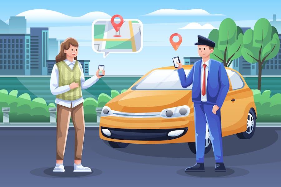 Online Driver Illustration