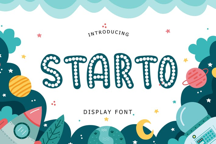 Thumbnail for Starto Display Font