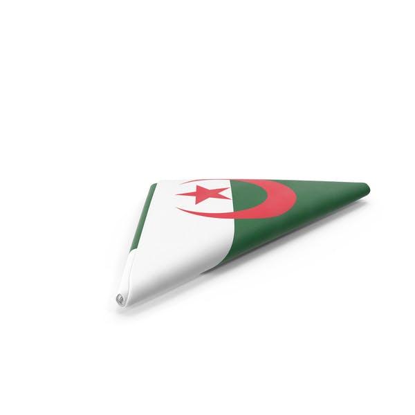Flag Folded Triangle Algeria