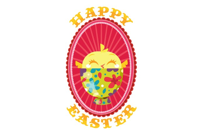 Thumbnail for Decorative Happy Easter Chick In Egg