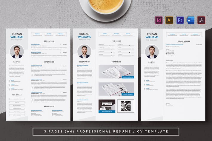 Thumbnail for Minimal & Modern Resume/CV AN