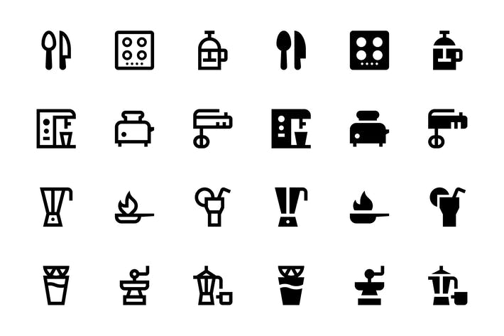 Thumbnail for 74 Food and Drinks Icons