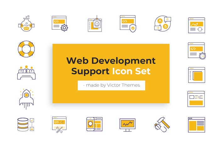 Thumbnail for Web Development Support Icons
