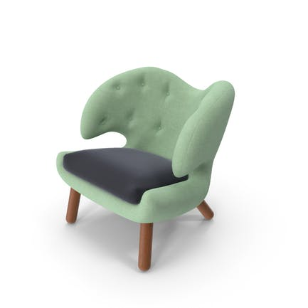 Grüner Stoff Stuhl