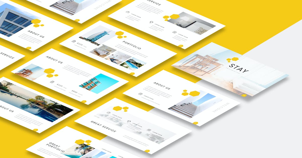 Download Stay - Hotel Powerpoint Presentation Template by naulicrea