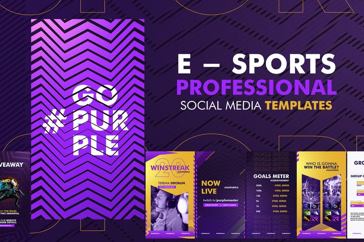 Thumbnail for E - Sports Social Media Template
