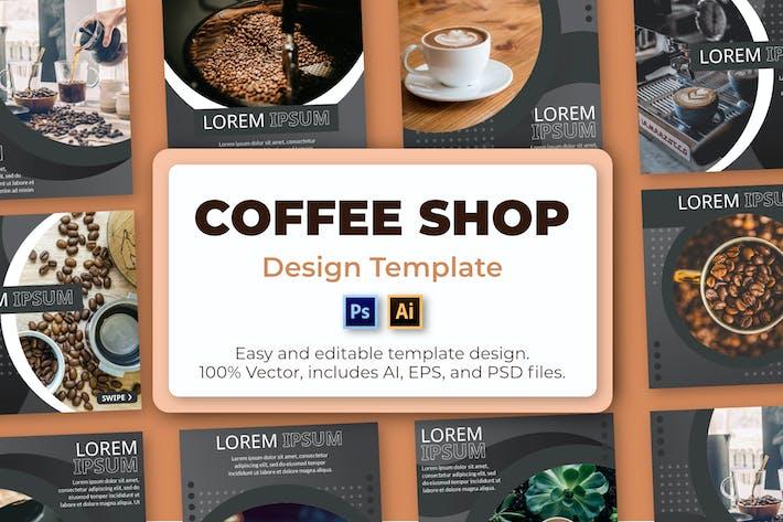 Thumbnail for Coffee Shop Social Media Template
