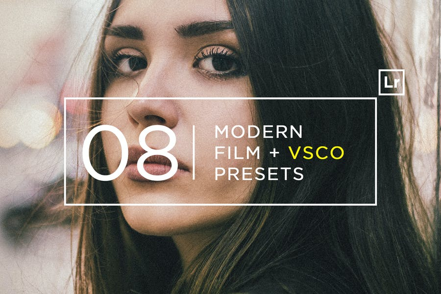 8 Modern Film VSCO Lightroom Presets
