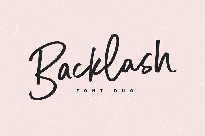 Cover Image For Backlash Font Duo