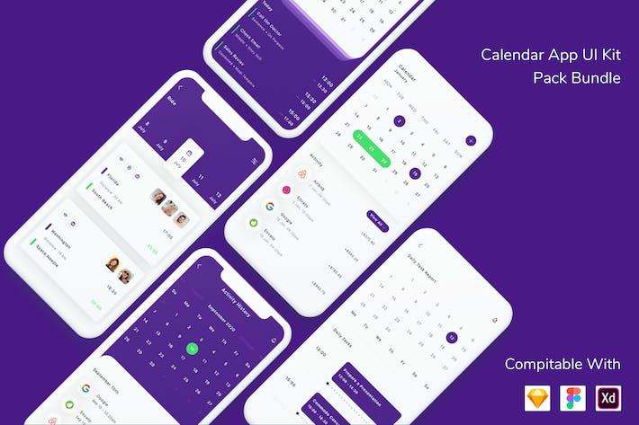 Thumbnail for Calendar App UI Kit Pack Bundle