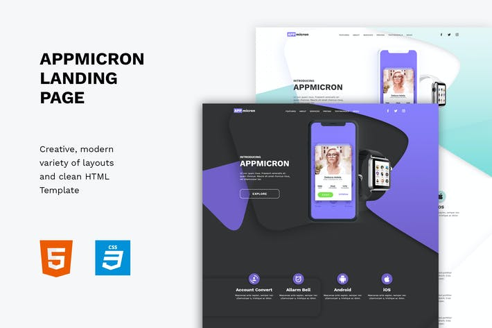 Thumbnail for Appmicron - App & Product Landing page