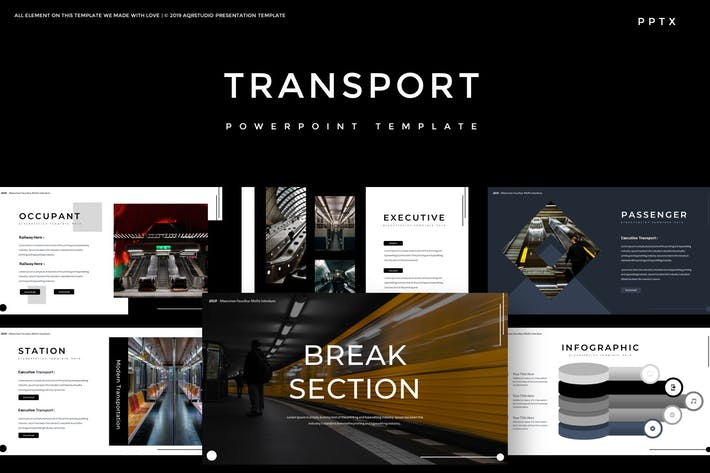 Thumbnail for Transport - Powerpoint Template