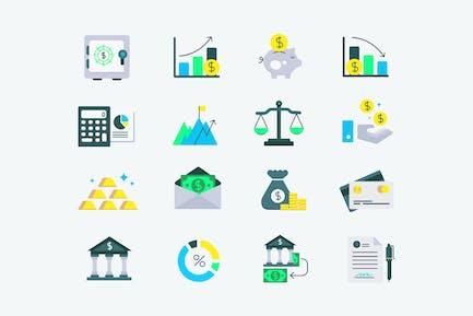 Icones ne de financement d'investissement