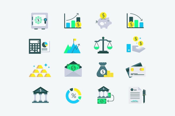 Thumbnail for Investment Finance Icons
