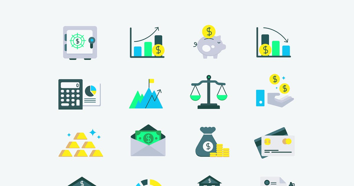 Download Investment Finance Icons by Jumsoft