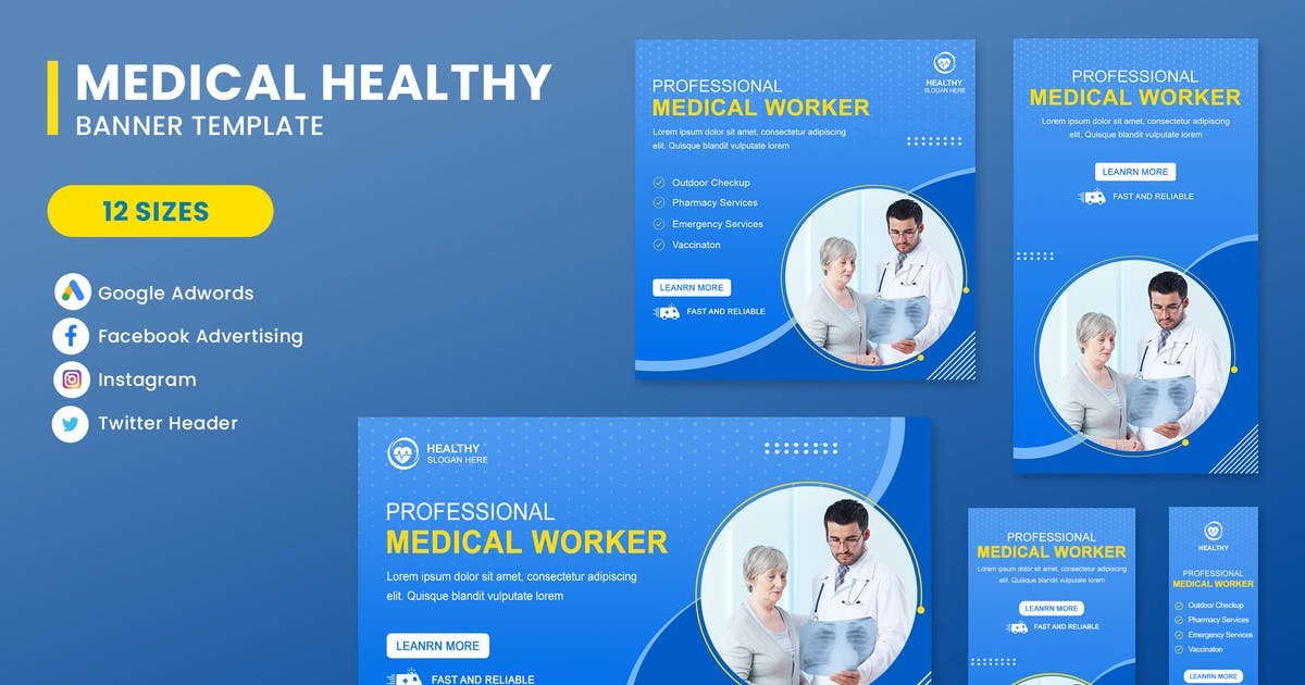 Download Medical Care Banner Set Template by nanoagency