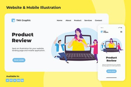 Influencer Product review web and mobile