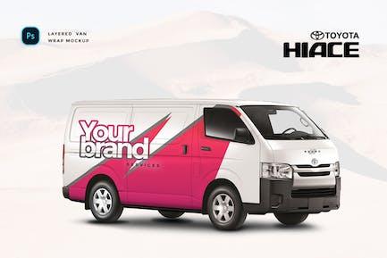 Toyota Hiace Van Mockup