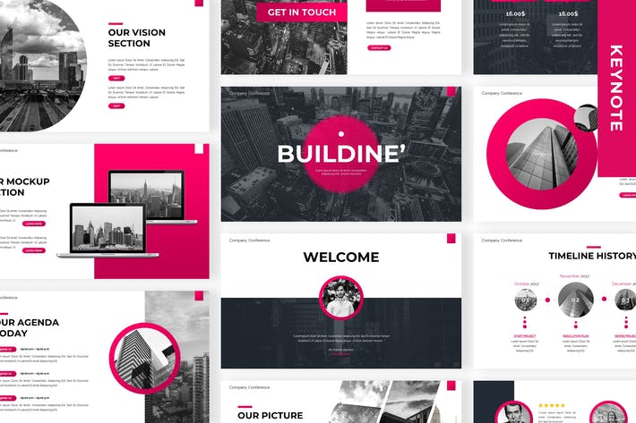 Thumbnail for Buildine - Business Keynote Template
