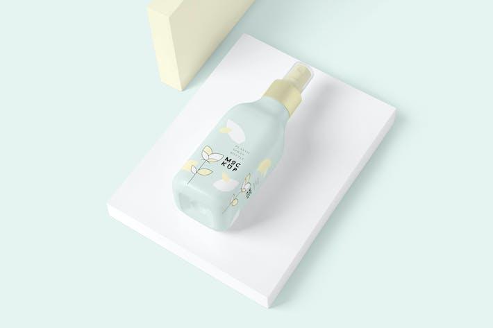 Thumbnail for Glossy Plastic Spray Bottle Mockups