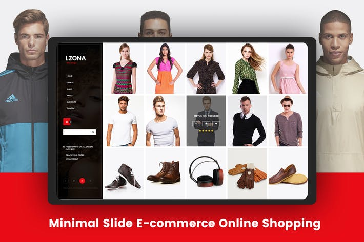 Thumbnail for Minimal Slide E-commerce Online Shopping Template