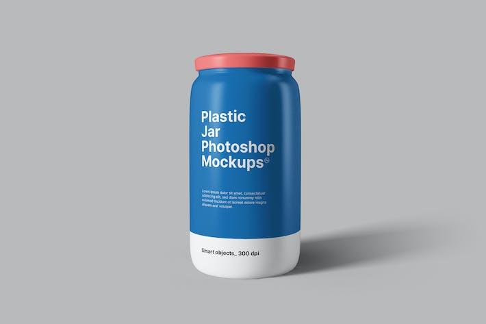 Plastic Jar Mockups