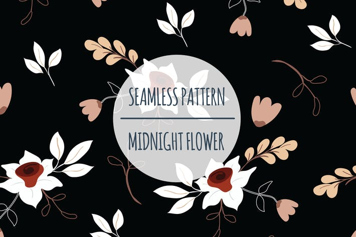 Midnight Flower – Seamless Pattern