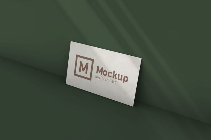 Thumbnail for Business Card Mockup With Shadow