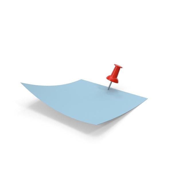 Синяя бумага с красным штифтом