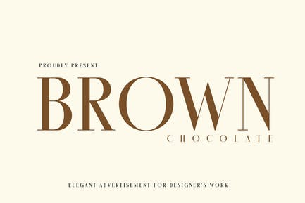 Brown Chocolatte Advertisement Font