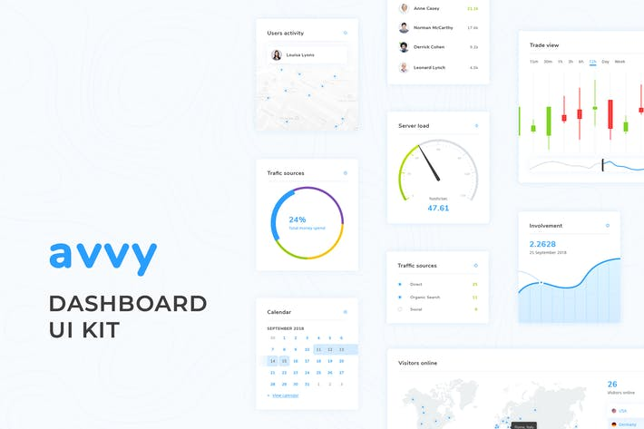 Thumbnail for Avvy – Dashboard UI Kit