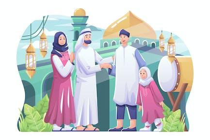 Illustration Aïd Al Fitr