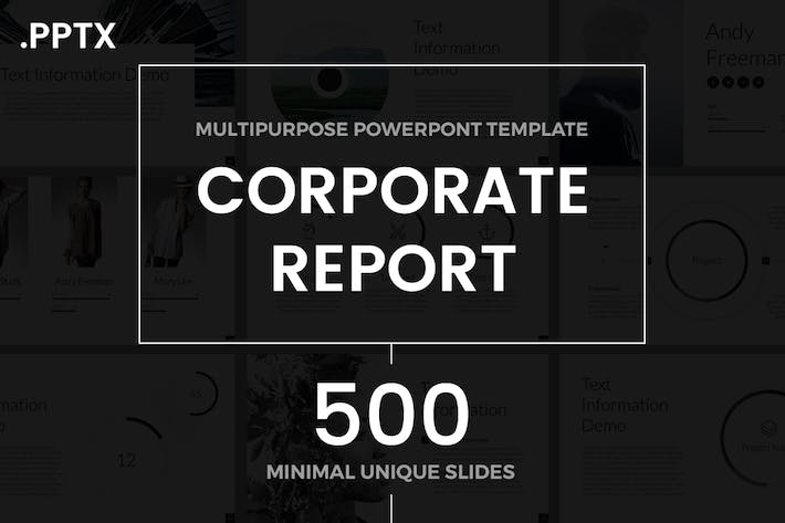 Thumbnail for Corporate Report PowerPoint Template