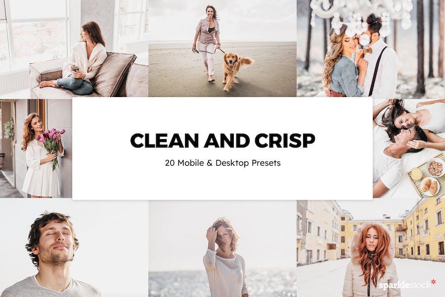 20 Clean and Crisp Lightroom Presets & LUTs