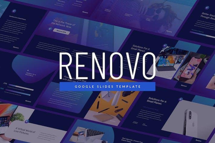 Thumbnail for Renovo - Tech Theme Google Slide Template