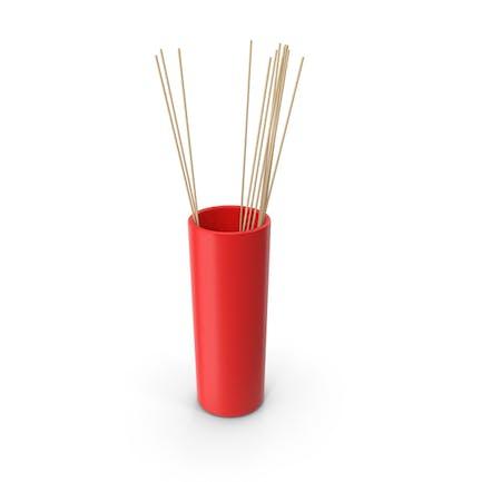 Tube Vase Red
