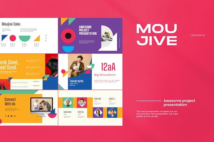 Thumbnail for MOUJIVE - Пастельный цветной Презентация Google слайдов