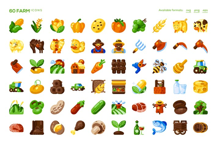 Cover Image For 60 Farm Icons