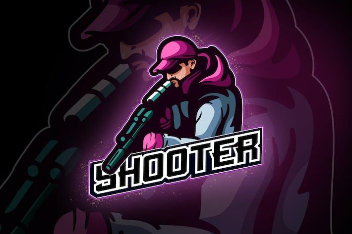 Thumbnail for Squad shooters Team No.4 - esport logo