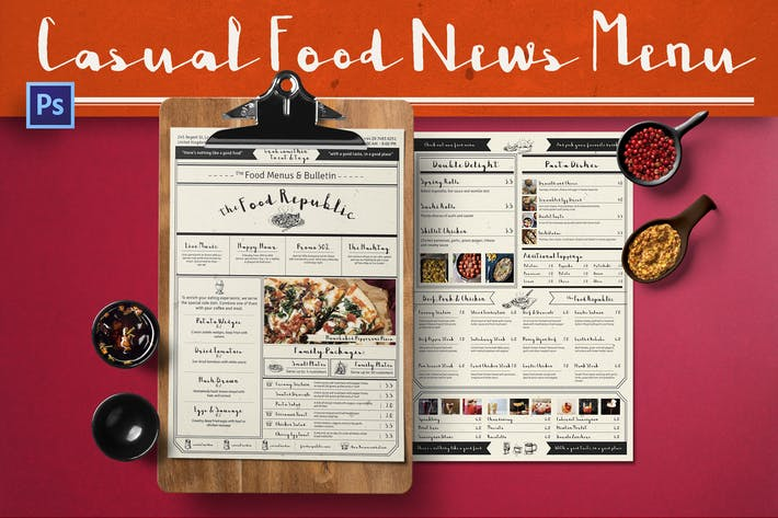 Thumbnail for Casual Food News Menu