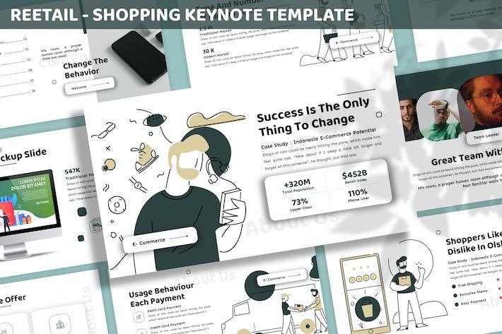 Thumbnail for Reetail - Shopping Keynote Template