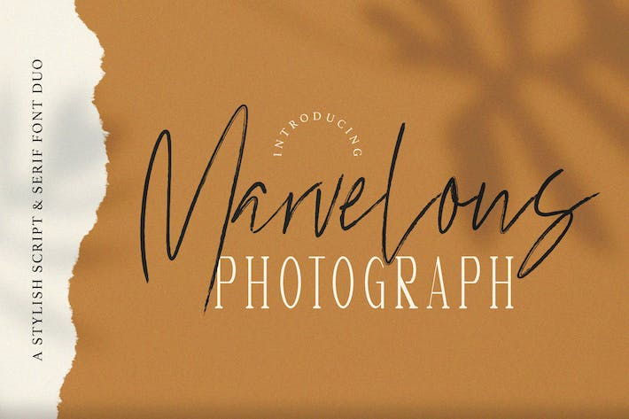 Thumbnail for Marvelous Photograph - Font Duo
