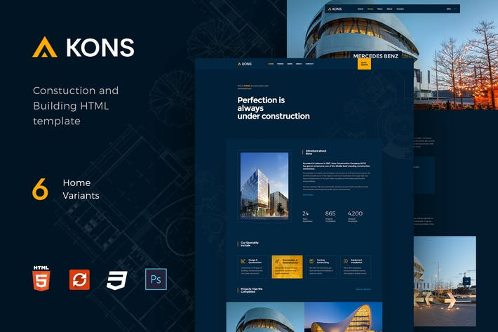 Thumbnail for Kons - Construction and Building Template