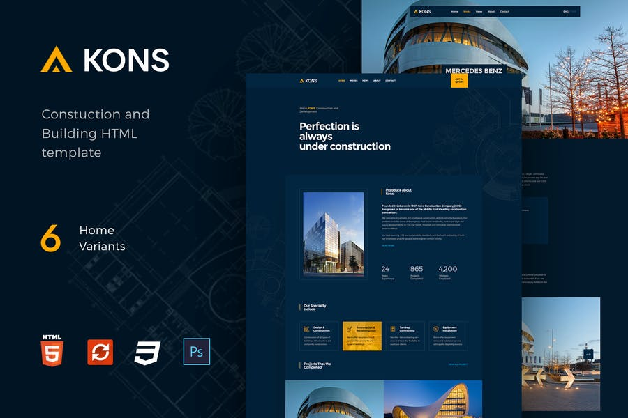 Kons - Construction and Building Template