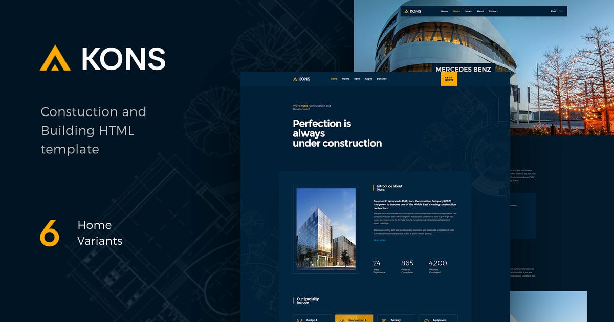 Download Kons - Construction and Building Template by paul_tf