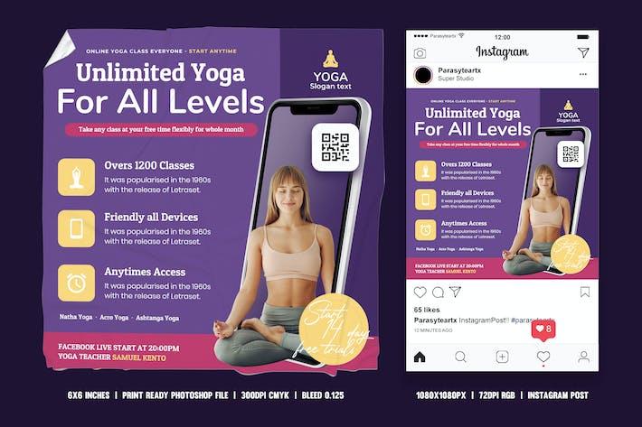 Yoga Square Flyer & Instagram Post