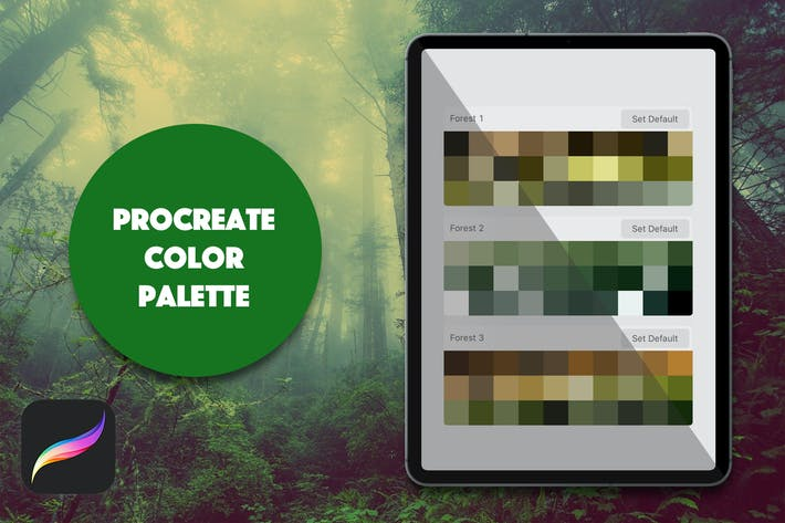 Thumbnail for Procreate Palette - Foliage