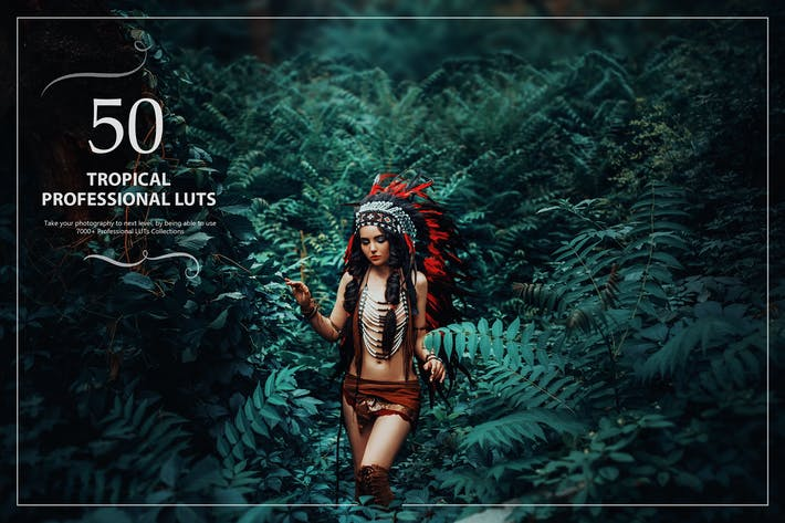 Thumbnail for 50 Tropical LUTs (Look Up Tables)